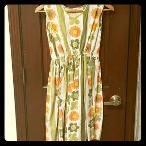 Vintage 60s flower power girls dress size 12